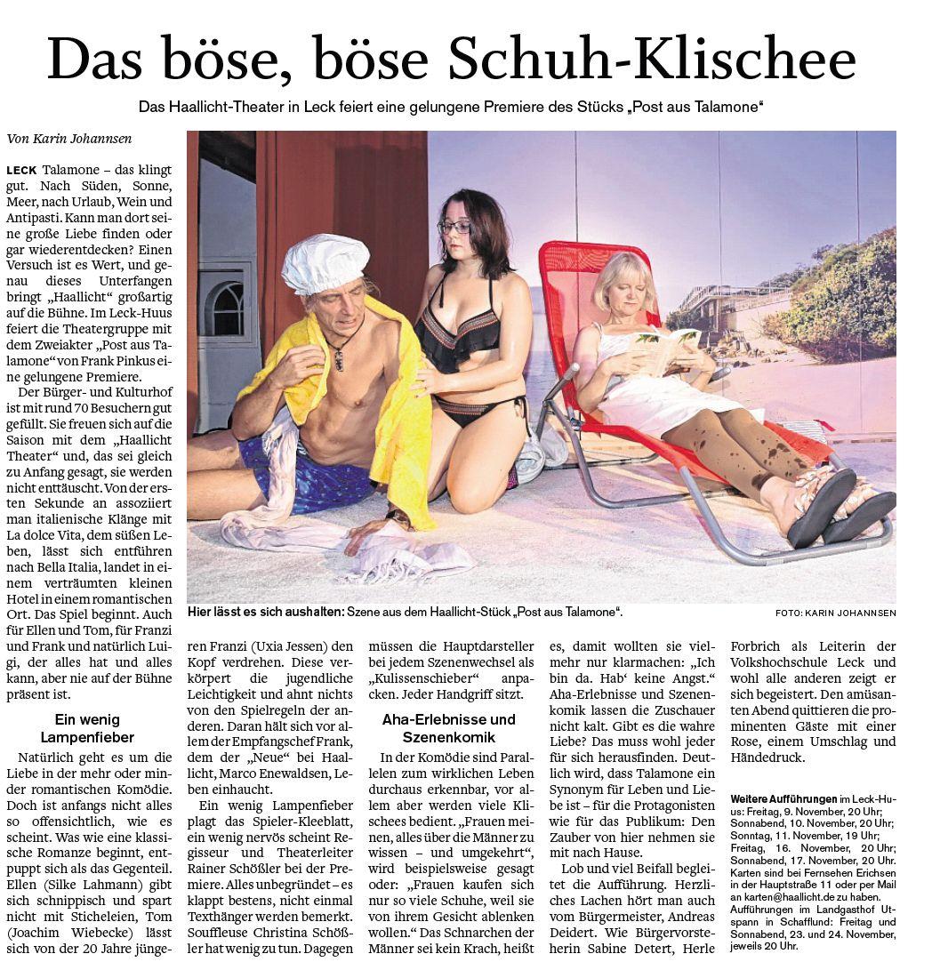 """shz Premiere Kritik """"Post aus Talamone"""" November 2018"""